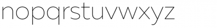 Muller Thin Font LOWERCASE