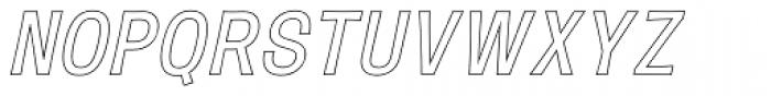 Mulsanne Outline Font UPPERCASE