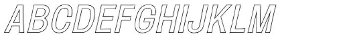 Mulsanne Outline Font LOWERCASE