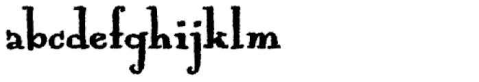 Mummbler Font LOWERCASE