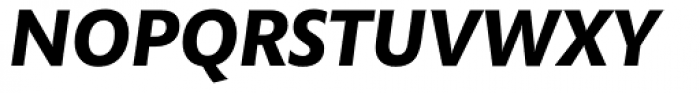 Mundo Sans Bold Italic Font UPPERCASE