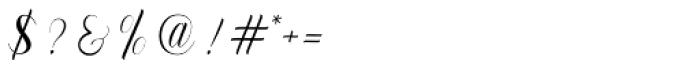 Murchison Script Regular Font OTHER CHARS