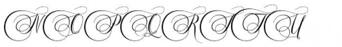 Murchison Script Regular Font UPPERCASE