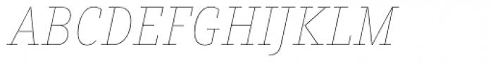 Muriza Hairline Italic Font UPPERCASE