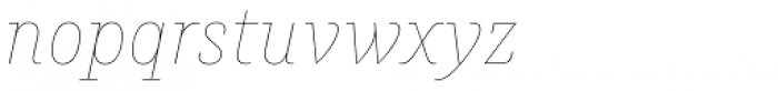 Muriza Hairline Italic Font LOWERCASE