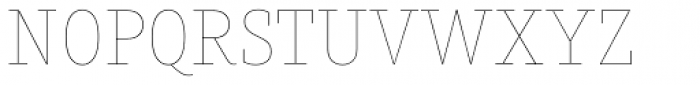 Muriza Hairline Font UPPERCASE
