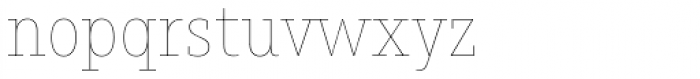 Muriza Hairline Font LOWERCASE