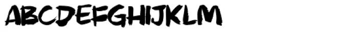 Murky Buzz Font LOWERCASE