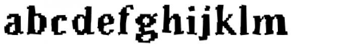 Murphy Heavy Font LOWERCASE