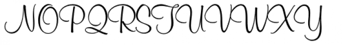 Murray Hill Font UPPERCASE