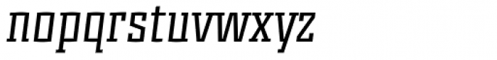 Murray Slab Italic Font LOWERCASE