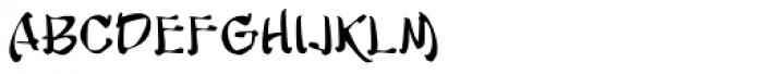 Musashi BB Font LOWERCASE