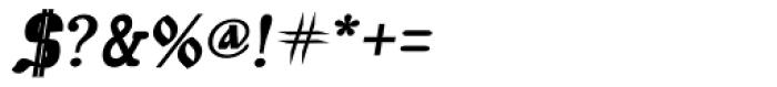 Muscovite Manuscript Bold Italic Font OTHER CHARS