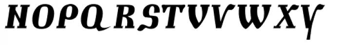 Muscovite Manuscript Bold Italic Font UPPERCASE