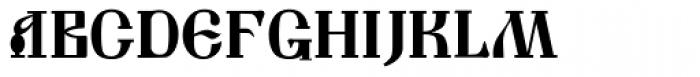 Muscovite Manuscript Font UPPERCASE