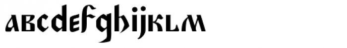 Muscovite Manuscript Font LOWERCASE
