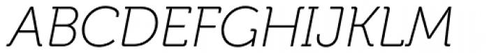 Museo Cyrillic 100 Italic Font UPPERCASE
