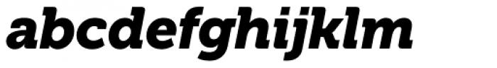 Museo Cyrillic 900 Italic Font LOWERCASE