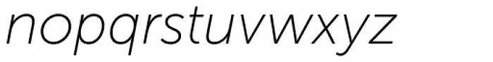 Museo Sans Cyrl 100 Italic Font LOWERCASE