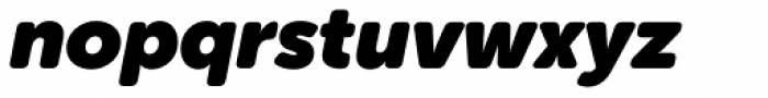 Museo Sans Rounded 1000 Italic Font LOWERCASE
