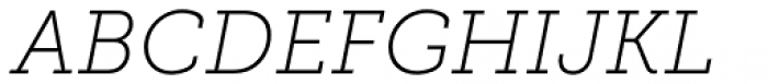 Museo Slab 100 Italic Font UPPERCASE