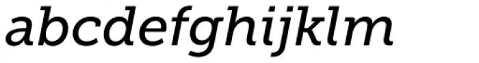 Museo Slab 500 Italic Font LOWERCASE
