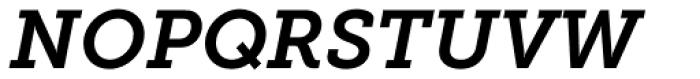 Museo Slab 700 Italic Font UPPERCASE