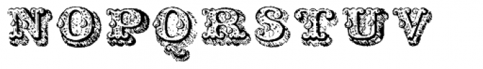 Musirte Antiqua Zweite Sorte Font UPPERCASE