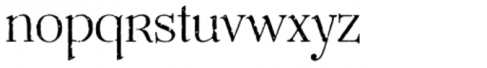 Mussica Antiqued OT Font LOWERCASE