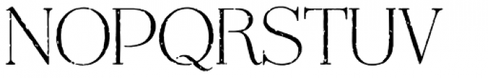 Mussica Antiqued Font UPPERCASE