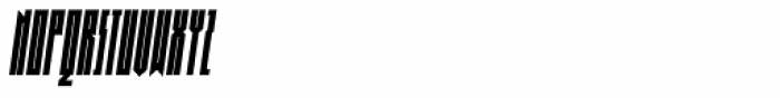Muzarela Extracondensed Bold Italic Font UPPERCASE