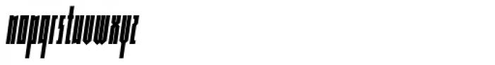 Muzarela Extracondensed Bold Italic Font LOWERCASE