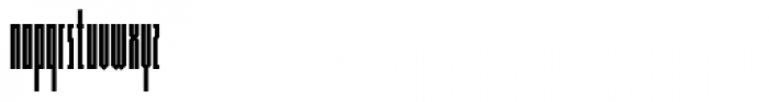 Muzarela Extracondensed Regular Font LOWERCASE