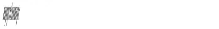 Muzarela Extracondensed Thin Italic Font LOWERCASE