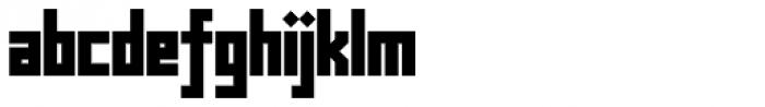 Muzarela Semiexpanded Black Font LOWERCASE