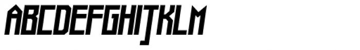 Muzarela Semiexpanded Bold Italic Font UPPERCASE