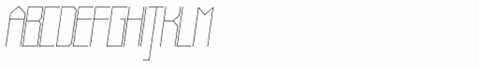 Muzarela Thin Italic Font UPPERCASE