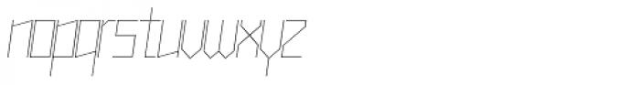 Muzarela Thin Italic Font LOWERCASE