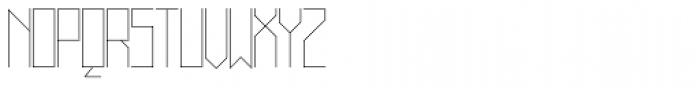 Muzarela Thin Font UPPERCASE