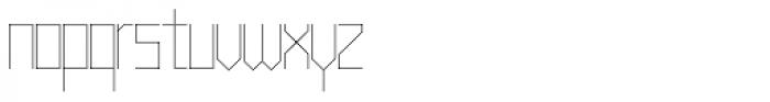 Muzarela Thin Font LOWERCASE