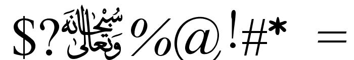 MVDawlatulIslamRasmy Font OTHER CHARS