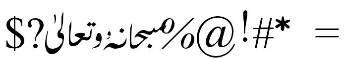 MVDawlatulIslamVazan Font OTHER CHARS