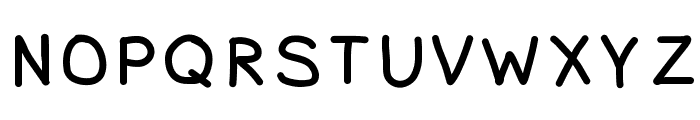 MVUHandwriting Font UPPERCASE
