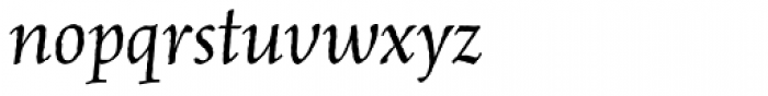 MVB Celestia Antiqua Italic Font LOWERCASE