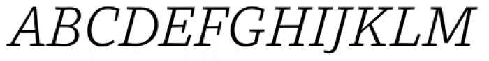 MVB Dovetail Light Italic Font UPPERCASE