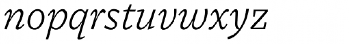 MVB Dovetail Light Italic Font LOWERCASE