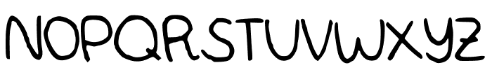MWBubbly Font UPPERCASE