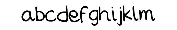MWBubbly Font LOWERCASE
