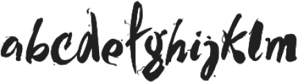 MY WAY otf (400) Font LOWERCASE