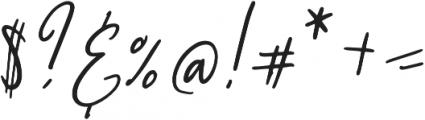 My Beloved Alternates otf (400) Font OTHER CHARS